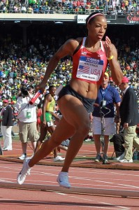 Natasha Hastings at Penn Relays 2011
