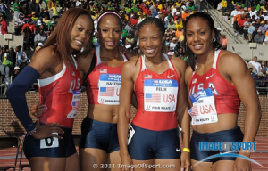 USA 4x400 team at Penn Relays 2011